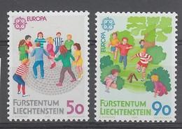 PAIRE NEUVE DU LIECHTENSTEIN - EUROPA 1989 : JEUX D'ENFANTS N° Y&T 901/902 - Europa-CEPT