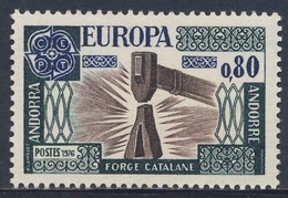 Andorra French Post 1976 Mi 274 YT 253 Sc 246 ** Catalan Forge / Schmiedehammer, Schmiedekunst / Smidse - Fabrieken En Industrieën