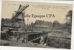 75 - PARIS 04 - #694 - Travaux Du Métropolitain - Pose Du Plancher - Transbordeur +++ JH +++ MÉTRO / ÉTAT - District 04