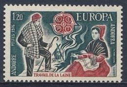 Andorra French Post 1976 Mi 275 YT 254 Sc 247 ** Andorran Folk-weaving / Wollspinnerin, Schäfer, Feuerstelle - Textiel