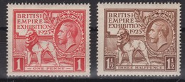 GRANDE BRETAGNE Roi George V 1925: Exposition De L'Empire Britannique, Neufs **, Bonne Cote - Ungebraucht