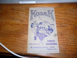 BC9-2-0-2 Pochette Photo Kodak Film Photo Ernest Gourdinne Liège - Non Classés