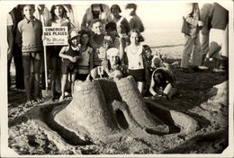 CARTE PHOTO 76 LES PETITES DALLES   Concours Des Plages Organisé Par Le Journal LE MATIN 1934 35 36 - Autres Communes