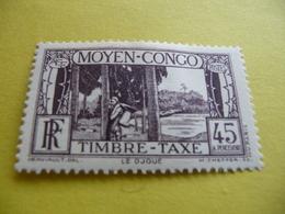 TIMBRE   CONGO    TAXE     N  28      COTE  2,50  EUROS    NEUF  TRACE   CHARNIÈRE - Congo Français (1891-1960)