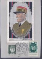 Carte Maximum Petain Sur Soie Journée Du Timbre 1943 Saint Etienne Vignette - Maximum Cards