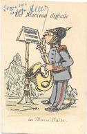 Patriotique : LA MARSEILLAISE Un MORCEAU DIFFICILE à Jouer Pour Un Allemand - Casque à Pointe - Illustration J.F. 1914 - Patriotiques