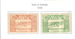Brasile PO 1936 Vedute Cameta   Scott.419/420+See Scan On Scott.Page - Brazil
