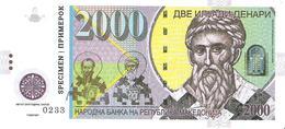 Macedonia - 2000 Denari 2013 - Unc - Private Issue - Specimen For Official Competition - Macedonia