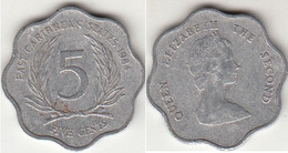 East Caribbean States 5 Cents 1984 Km#12 - Used - East Caribbean States