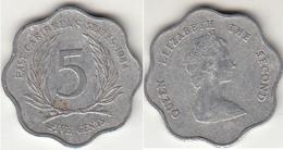 East Caribbean States 5 Cents 1984 Km#12 - Used - Caraibi Orientali (Stati Dei)