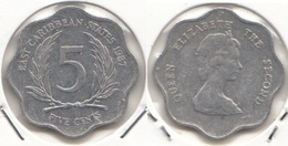 East Caribbean States 5 Cents 1987 Km#12 - Used - Caraibi Orientali (Stati Dei)