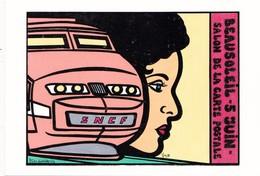 CPM (06) BEAUSOLEIL Carte De Salon 1988 Essai De Couleur T.G.V. Femme Lady Tirage Limité Illustrateur - Collector Fairs & Bourses