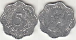 East Caribbean States 5 Cents 1992 Km#12 - Used - Caribe Oriental (Estados Del)