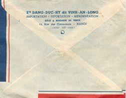 HANOÏ COCHINCHINE VIETNAM DANG-DUC-HY MAGASIN RUE CANTONNAIS AFFRANCHISSEMENT LETTRE LETTER STAMP INDOCHINE VIET-NAM - Vietnam