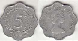 East Caribbean States 5 Cents 1995 Km#12 - Used - Caraibi Orientali (Stati Dei)