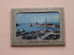 HÄLSINGBORG 10 Motiv I Färg ( Small Carnet Format +/- 10,5 X 7,5 Cm.) Forlag A.B. H. Hakansson ( See Photo Svp ) ! - Suède