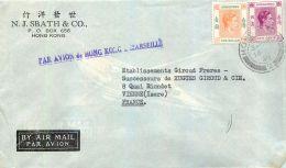 HONG-KONG N.J. SBATH § CO. HONGKONG CHINE CHINA LETTER STAMP - Chine (Hong Kong)