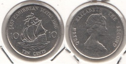 East Caribbean States 10 Cents 1986 Km#13 - Used - East Caribbean States