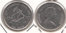 East Caribbean States 10 Cents 1986 Km#13 - Used - Caraibi Orientali (Stati Dei)