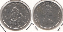 East Caribbean States 10 Cents 1987 Km#13 - Used - East Caribbean States
