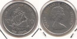 East Caribbean States 10 Cents 1987 Km#13 - Used - Caraibi Orientali (Stati Dei)