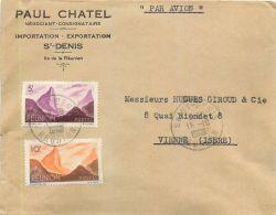 ILE DE LA REUNION PAUL CHATEL NEGOCIANT SAINT-DENIS LETTRE TIMBRE LETTER STAMP - Saint Denis