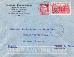 ILE DE LA REUNION TURENNE CHAMPIGNEUL SAINT-DENIS LETTRE TIMBRE LETTER STAMP - Saint Denis