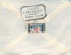 ILE DE LA REUNION SOCIETE J. CHATEL SAINT-DENIS LETTRE TIMBRE LETTER STAMP - Saint Denis