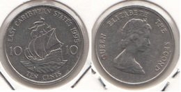 East Caribbean States 10 Cents 1995 Km#13 - Used - Caribe Oriental (Estados Del)