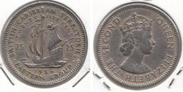 East Caribbean States 25 Cents 1955 Km#6 - Used - Caraibi Orientali (Stati Dei)