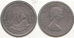 East Caribbean States 25 Cents 1981 Km#14 - Used - Caraibi Orientali (Stati Dei)