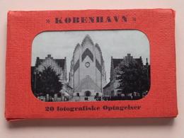 KOBENHAVN 20 Fotografiske Optagelser ( Small Carnet Format +/- 11 X 7 Cm.)  ( See Photo Svp ) Compleet ! - Danemark