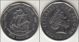 East Caribbean States 1 Dollar 2004 Km#39 - Used - Caraibi Orientali (Stati Dei)