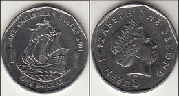 East Caribbean States $1 Dollar 2004 Km#39 - Used - Caraibi Orientali (Stati Dei)