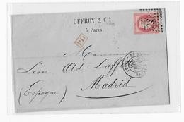Commune De Paris Agence OFFROY Du 21 Avril 1971,lettre Datée De Paris,postée à Saint Denis Pour L'Espagne, - Marcophilie (Lettres)