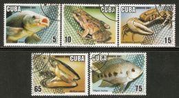 2001 Mi# 4366-4370 Used - Aquaculture - Cuba
