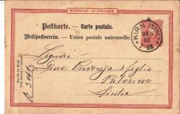 MG153) Deutsches Reich - 1890 POSTKARTE Timbro KIRN (NAHE) - Germania