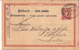 MG154) Deutsches Reich - 1888 POSTKARTE Timbro METZ BINGERBRUCK - Interi Postali