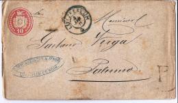 MG165) SVIZZERA -1871 Cover Lutzelfluh  To ITALY - Entiers Postaux
