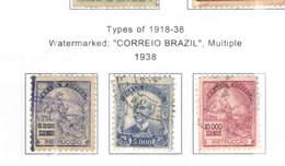 Brasile PO 1938 Tipi 1918/38 Scott.458/460+See Scan On Scott.Page - Brasile