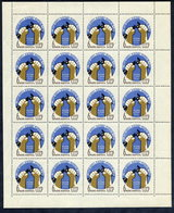 SOVIET UNION 1962 World  Disarmament Conference Complete Sheet Of 20 Stamps MNH  / **.  Michel 2623 - 1923-1991 USSR
