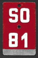 Velonummer Solothurn SO 81 - Number Plates