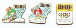 Lot De 3 Pin's M&M'S - Sponsor Olympique - H153 - Badges