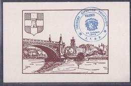 Carte Projet Carte Lettre  Journée Du Timbre 1943 Valence - Covers & Documents
