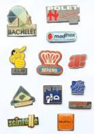 Lot De 12 Pin's Logos De Sociétés Différents - H155 - Lots