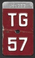 Velonummer Thurgau TG 57 - Number Plates