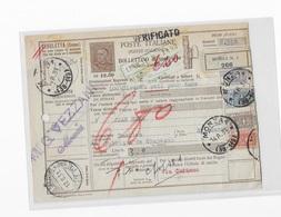 Bulletin D'expédition De Monza Pour La Suisse Entier Postal + Timbres Colis Postaux - Paketmarken