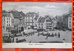 BASEL, Barfüsser Richtung Hauptpost, 1902 - BS Bâle-Ville