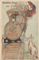 Goeden Dag Uit Lier  , Carte à Système ,met Trein,train - Lier