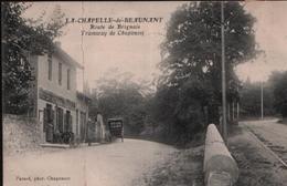 Cpa LA CHAPELLE DE BEAUNANT (Saint Genis Laval) 1909 - Route De Brignais - Tramway De Chaponost - Altri Comuni